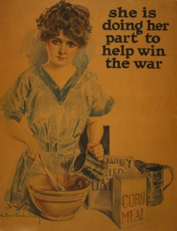 "Vintage Poster ""she is doing her part to help the war"""